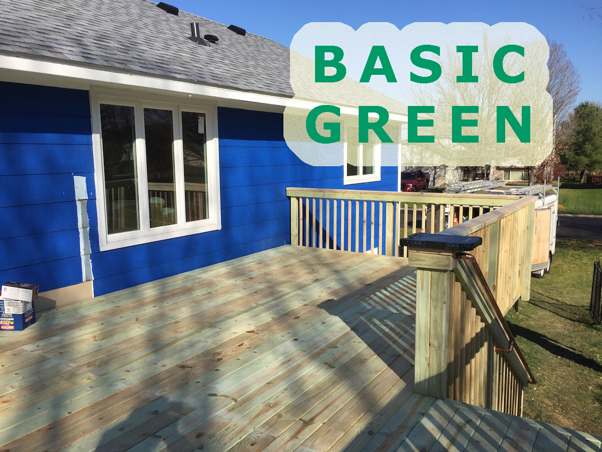 green treated decking