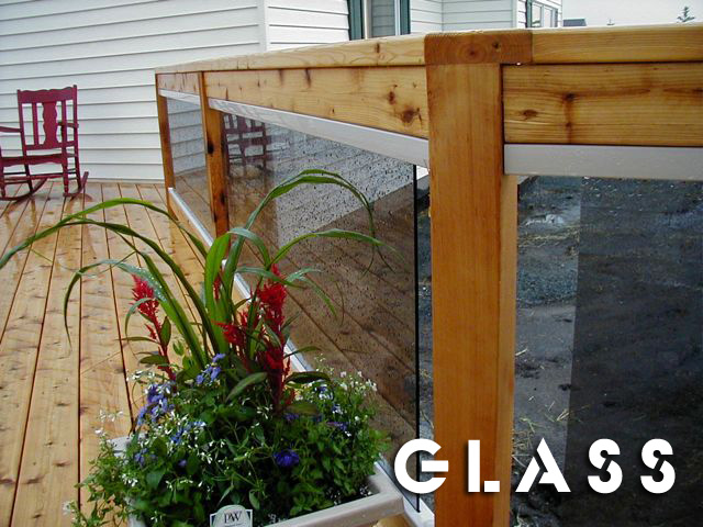 cedar and glass railing