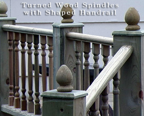 turned wood spindles