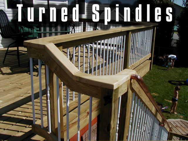 turned spindles.