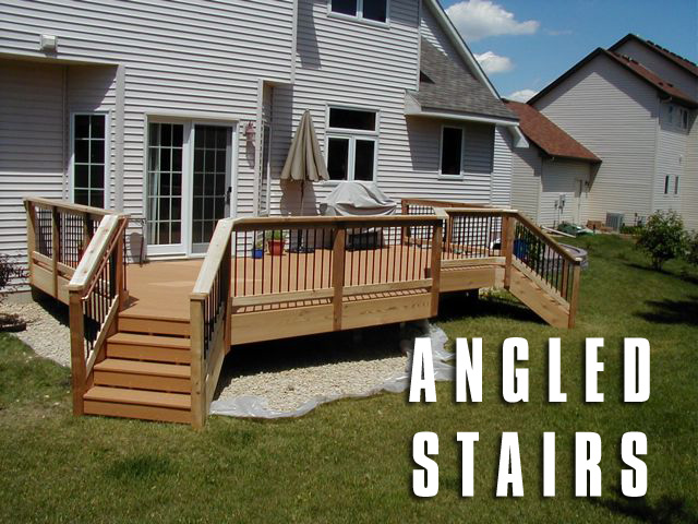 angled stairs